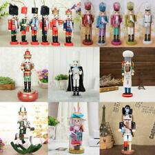 Exquisite Painted Wooden Nutcracker Handcraft Gift Home Christmas Decor Display