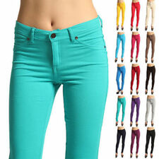 Women Skinny Slim Jeggings Stretch Candy Pencil Pants Leggings Trousers Bottoms