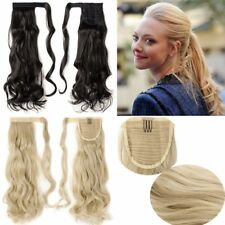 Deluxe Thick Clip In Ponytail Hair Extension Straight Curly Hair Piece New Style