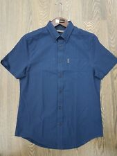 MENS BEN SHERMAN SHORT SLEEVE CHECK SHIRT *0049949* IN DARK NAVY