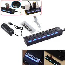 Newly 3/4/7-Port USB 2.0 Hub with High Speed Adapter ON/OFF Switch for Laptop PC