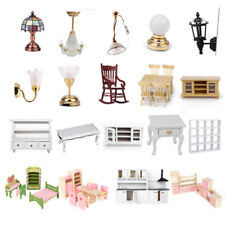 1/12th Dolls Houses Miniature Furniture Bedroom Kitchen Suite Working Lamp Light