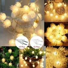 10-160 LED Christmas Tree Pine Cone Fairy String Light Indoor Xmas Wedding Party