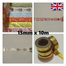 Christmas Washi tape rolls 15mm Foil Decorative Adhesive Paper Planner Tape