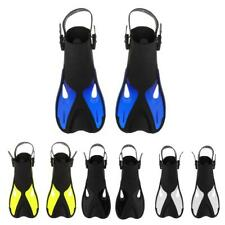 Adult Scuba Diving Snorkeling Pool Swimming Learning Fins Adjust Flippers