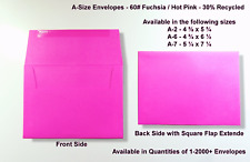 A2▪A6▪A7 60# Premium Fuchsia Announcement Envelopes - Various Quantities