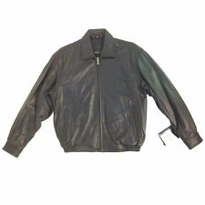 Excelled, Vintage, Men's Genuine Leather Bomber (Short) Jacket, Black, Assorted