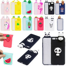 Soft Silicone Gel Cute Cartoon 3D Case Cover For Apple iPhone X 5 6 6S 7 8 Plus