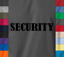 SECURITY Bouncer Party Staff Soft Ringspun 100% Cotton T-Shirt Confidence Tee