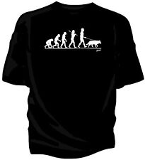 Evolution of Man, German Shepherd pet dog t-shirt.    alsation