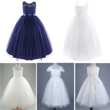 Kids Formal Occasions Bridesmaid Party Prom Event Wedding Flower Girl Dress Gown