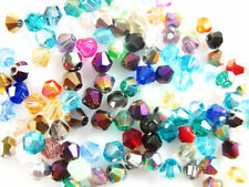 100Pcs Faceted Bicone Crystal Glass Bead Spacer Bracelet&Necklace Findings FREE