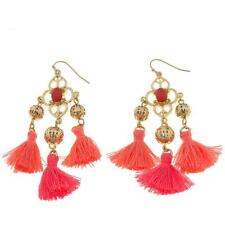 "R.J. Graziano ""Beach Party"" Goldtone Tassel Chandelier Earrings"