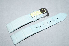 Genuine Croco Alligator Leather Handmade 18mm Watch Strap Mint Green