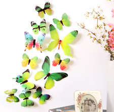 Wall Stickers Home Decorations 3D Butterfly Rainbow Wallpaper for living room