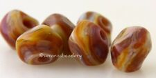 CANYON ROCK NUGGET Beads * Lampwork Glass sra - tiny faceted rocks
