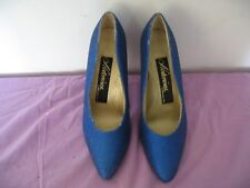 WOMAN'S BAKERS NOTORIOUS SLIP ON HEELS SIZE 7.5M BLUE PRE-OWNED