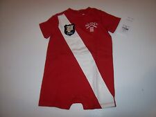 NEW Polo Ralph Lauren Baby Boy Romper Jumpsuit Shortall red one piece 3m 3 month