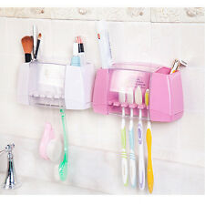 Multifunctional toothbrush holder storage box bathroom accessories suction ho PL