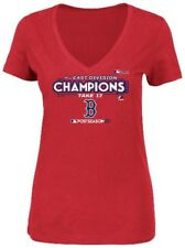 Boston Red Sox MLB Womens Majestic Division Champions Shirt Red Plus Sizes