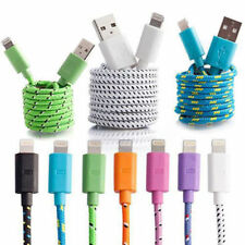 Extra Long 2M Strong Fabric Braided Micro USB Data Charger Cable Lead For iPhone