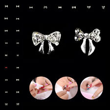 2 Pieces Multiple Styles Nail Patch Rhinestones Nail Drill Bowknot Nail Supplies
