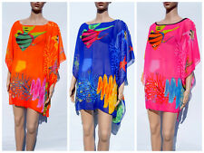 Ladies Sexy Bikini Swimwear Cover Up Chiffon Beach Tunic Tops Summer Kaftan AX68