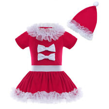 Toddler Kids Baby Girls Santa Claus Party Dress Christmas Skirt Outfits Clothes