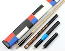 3/4 Snooker Cue 3 4 Top Black Burl Hand Made Pool Cues and Case Ext. Weichster