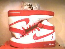 NEW! VERY RARE! MEN'S NIKE AIR FORCE 1 ONES HIGH SHEED WHITE / RED! 11.5 OR 15 !