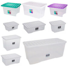Big Plastic Storage Boxes - Large Lidded Containers