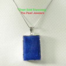 Hand-Crafted Beautiful Lapis Lazuli in Solid Sterling Silver .925 Pendant TPJ