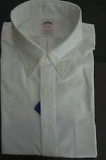 NWOT Brooks Brothers White Supima Oxford Button Down Traditional Fit   MSRP $95