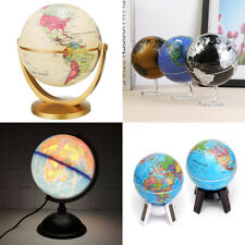 10.5-32cm World Globe Map Rotating Led Light Home Room Office Decor Xmas Gift