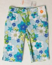 Gymboree NWT Girls Sea Splash Blue Floral Capri Pants Size 3-6 M & 18-24 M