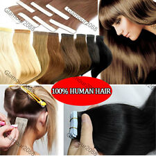 "20"" Skin Tape in Remy Human Hair Extension Straight PU Hair Skin Weft 50G"