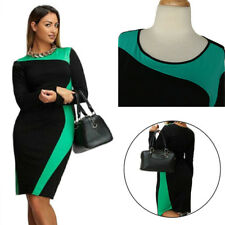 Long Sleeve Dress Trendy Two Colors Large Size Dress Round Neck Women's