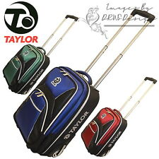 Taylor Bowls Club Tourer Trolley Case Lawn Bowls Bag Travel Luggage With Wheels