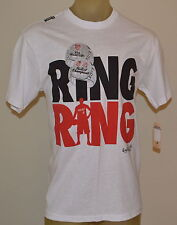 NEW UNK NBA LeBRON JAMES RING RING CHAMPIONSHIP MIAMI HEAT MEN'S WHITE T-SHIRT