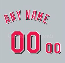 Baseball Cincinnati Reds 1999-06 Gray Jersey Customized Number Kit un-stitched