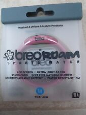 Brand New  Breo Roam Sports Watch Pink Water Resistant Rubber Strap - Size M