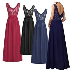 Women's Sexy Vintage Evening Party Wedding Bridesmaid Formal Cocktail Maxi Dress