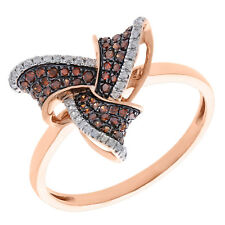 Prism Jewel 0.48 TDW Round Cognac Color Diamond with Natural Diamond Fancy Ring