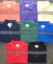 NEW MENS CUTTER & BUCK S/S UNIVERSITY STRIPE POLO SHIRT, PICK SIZE & COLOR, $75