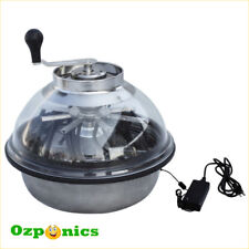 Hydroponics Manual & Electric Plant Leaf Trimmer Stainless Bowl Clear Lid Cutter