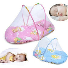 IM- Foldable Portable Infant Baby Mosquito Net Crib Bed Tent with Pillow Mystic