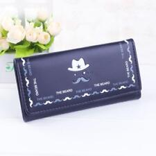 black + other Moustache Credit Card Checkbook Organizer Lady Wallet Clutch