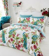 Peacock Multi Double Polycotton Duvet Set with Pillow Cases Bedding Set