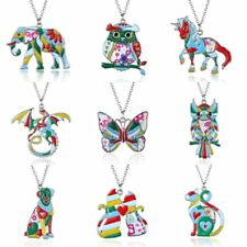 Fashion Butterfly Animal Dog Cat Chain Charm Pendant Necklace Women Jewelry Gift