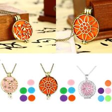 Diffuser Locket Pendant Aromatherapy Essential Oil Perfume Necklace Jewelry Gift